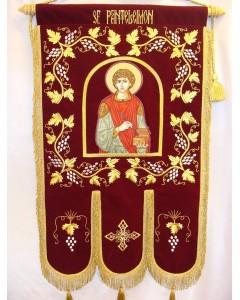 Prapor brodat Sf. Panteleimon