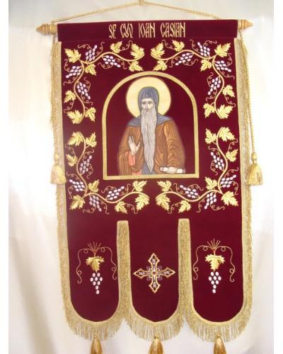 Prapor brodat Sf.Cuvios Ioan Casian